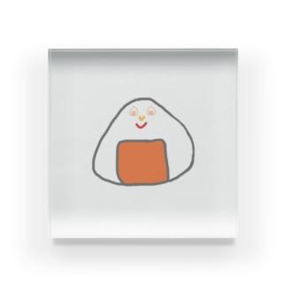 Orange rice ball boy Acrylic Block