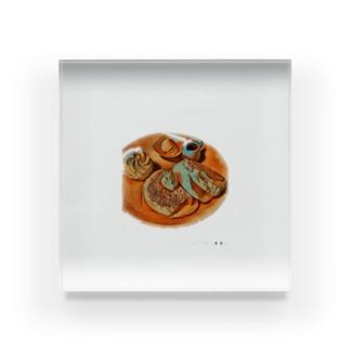 海老太郎のパンケーキ大好き Acrylic Block
