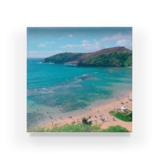 ハワイの海🏝 Acrylic Block