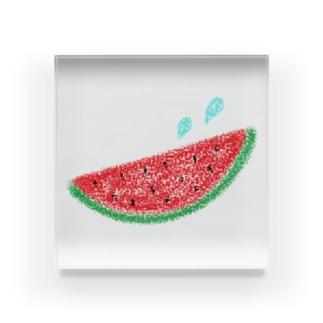 スイカと汗☆ Acrylic Block