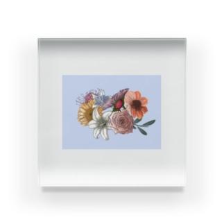 お花 Acrylic Block