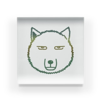 あさこはん「Atelier Pomme verte 」のチベットスナギツネ Acrylic Block