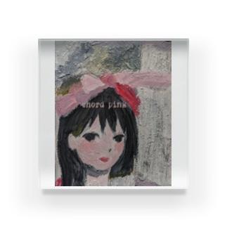 Brainwashed wow wowのchord pink Acrylic Block