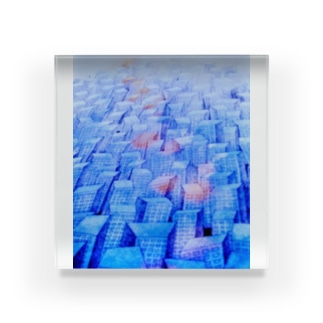 futaritachiの早朝のビル群 Acrylic Block