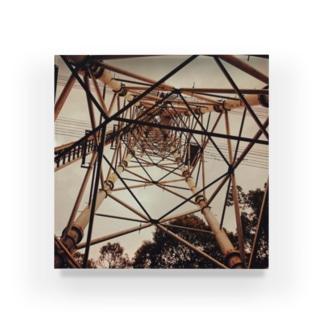 ミナニカのセピアな鉄塔 Acrylic Block
