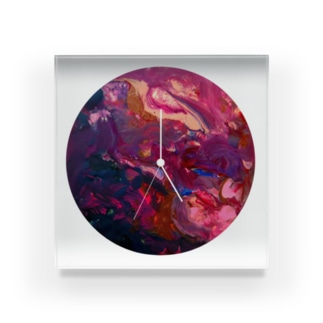 狐神社の時計 Acrylic Block