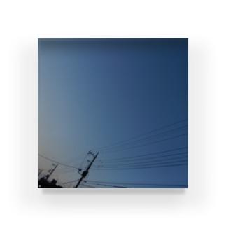 夜の青空0101 Acrylic Block