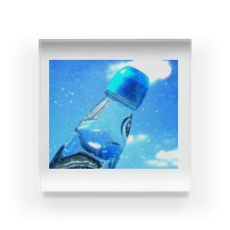 ラムネと青空 Acrylic Block
