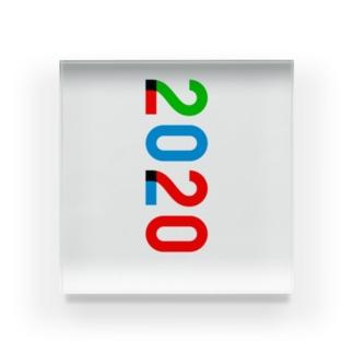 marikiroの2020_西暦 Acrylic Block