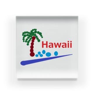 アメリカンベースのハワイ あわあわ Acrylic Block