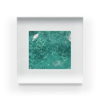 しゅわしゅわゆるうさちゃん Acrylic Block
