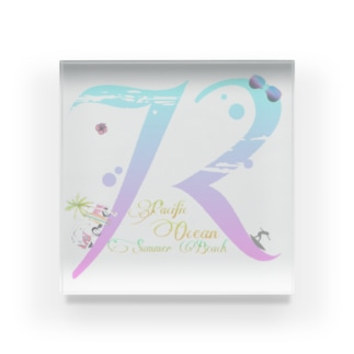 72〜Pacific Ocean Summer  Beach〜 Acrylic Block