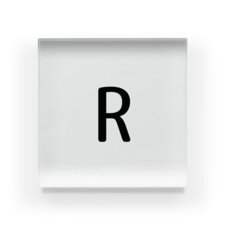 R Acrylic Block