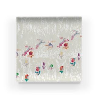 KAERUCAFE SHOPのうさぎ Acrylic Block