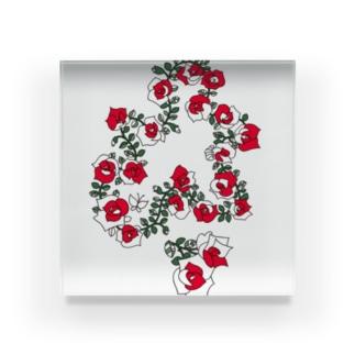 KAERUCAFE SHOPのバラ Acrylic Block