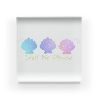 Shell We Dance Acrylic Block