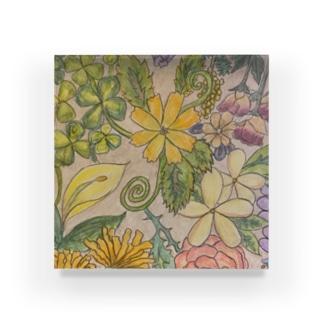 秋冬の花 Acrylic Block