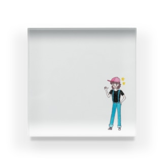ひよこ工房のボーイッシュな女の子 Acrylic Block