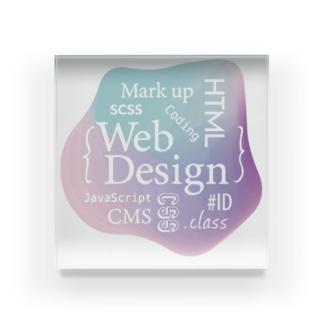 ウェブデザイン タイポグラフィ Acrylic Block