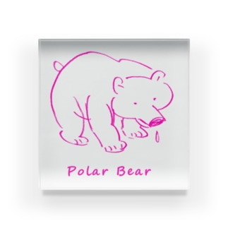 よこづな文庫のPolar Bear。 Acrylic Block