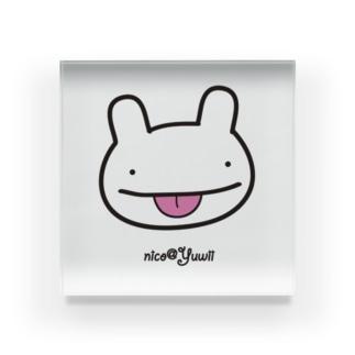 【Yuwiiの店】ゆぅいーのnicoちゃん★あかんベィべー Acrylic Block