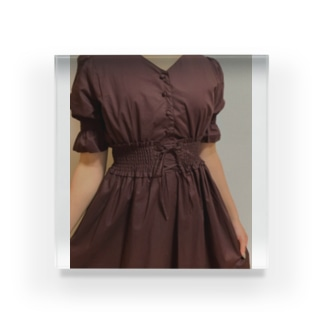 今日の私のドレスっぱいワンピース Acrylic Block