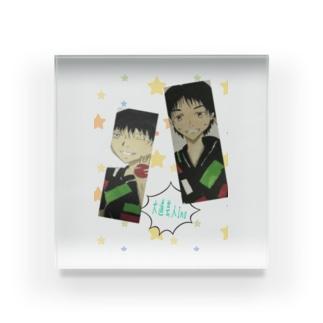 大道芸人Ino イラスト×2バージョン Acrylic Block