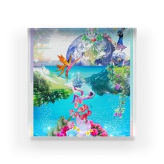 楽園にゆだねる Acrylic Block