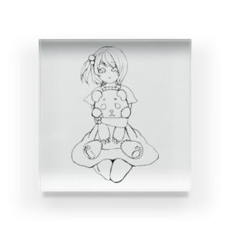 Yatamame ブランド -パンダっ子- Acrylic Block