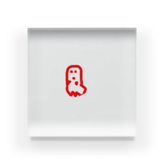 はにわ幽霊 Acrylic Block