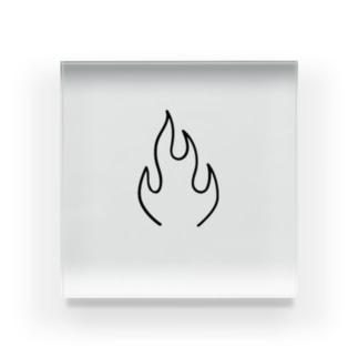 FLAME  Acrylic Block