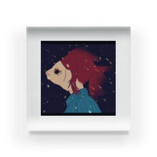金魚の子 Acrylic Block