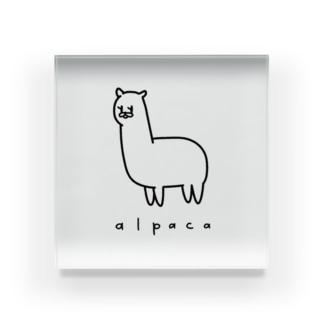 心優しいアルパカ Acrylic Block