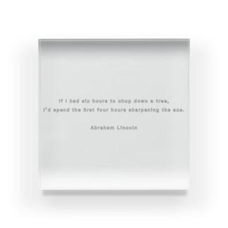 Abraham Lincoln(エイブラハム・リンカーン)名言 Acrylic Block