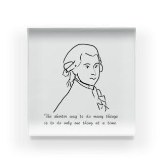 モーツァルトの名言 Acrylic Block