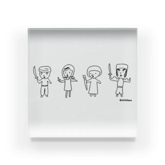 戦う4人組 Acrylic Block