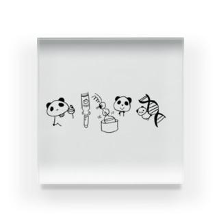 ぱんだくんの実験 Acrylic Block