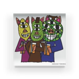 フルーツ3匹の子豚 Acrylic Block