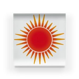 真っ赤に燃える太陽 Acrylic Block