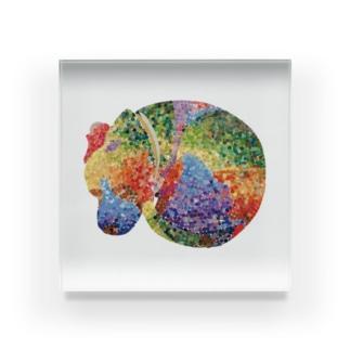 ビーグルの夢 Acrylic Block