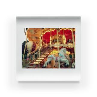 パリのメリーゴーラウンド Acrylic Block