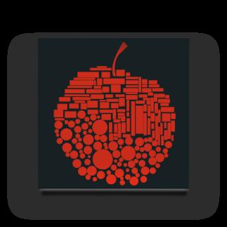 十円ショップのりんご Acrylic Block