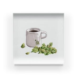 Coffee & Buds Acrylic Block