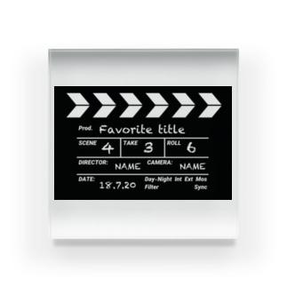 映画撮影 カチンコ Acrylic Block