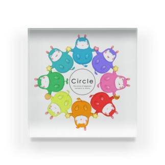カバロバ circle Acrylic Block