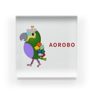ねこぜや のROBOBO アオボウシインコ Acrylic Block