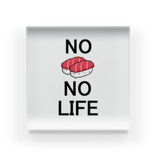 No Sushi No Life Acrylic Block