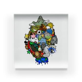 World travel -2 Acrylic Block