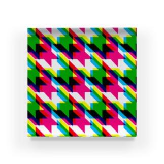 Houndtooth5 Acrylic Block