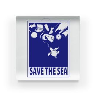 SAVE THE SEA Acrylic Block